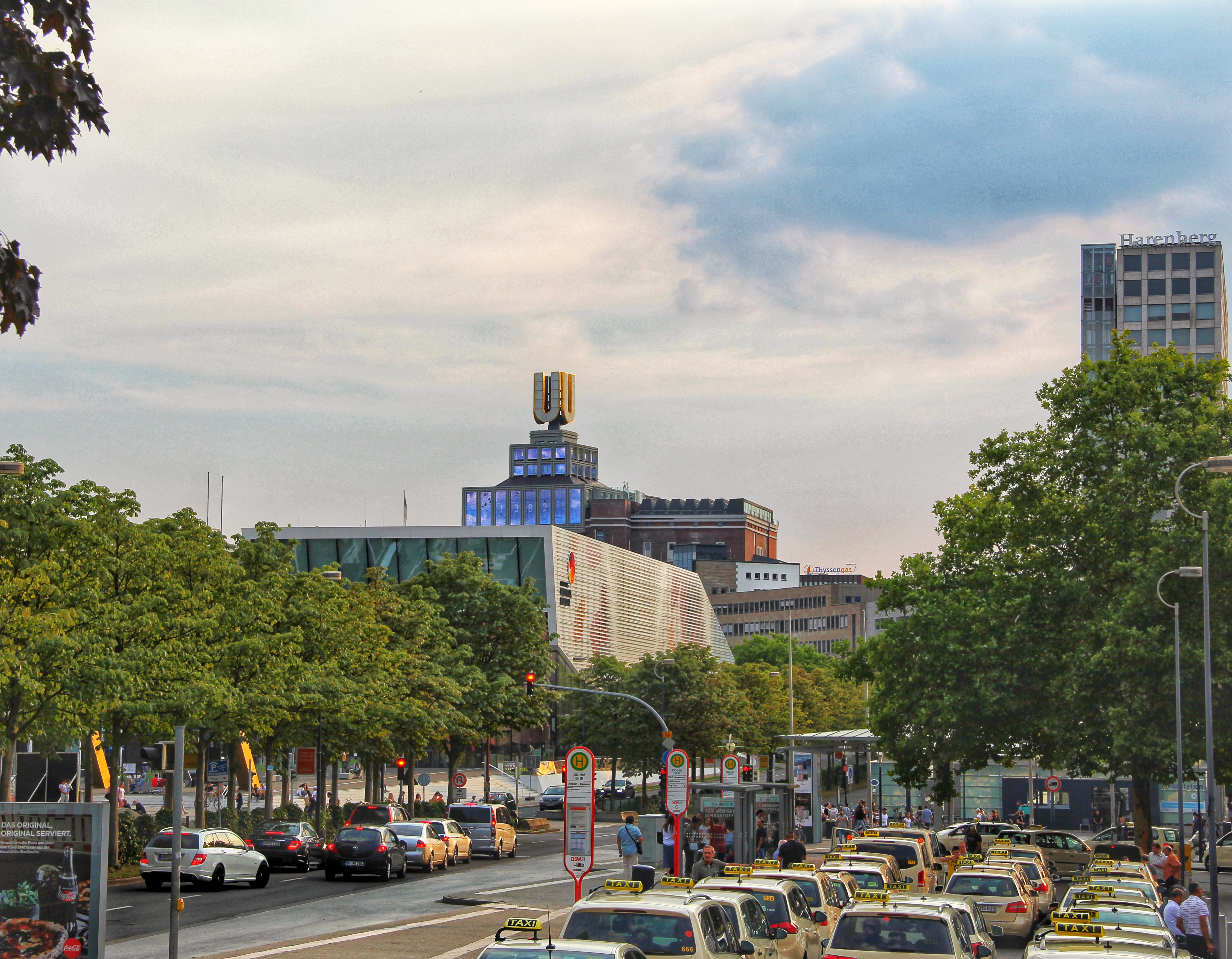 Panorama showing the German Football Museum and the U-tower in the background.